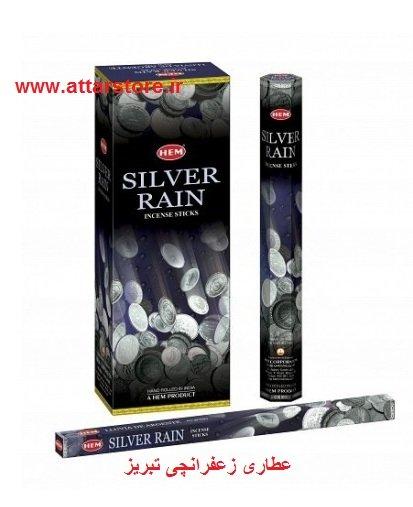 عود خوشبو کننده Hem مدل سیلور رین (باران نقره ای) silver rain